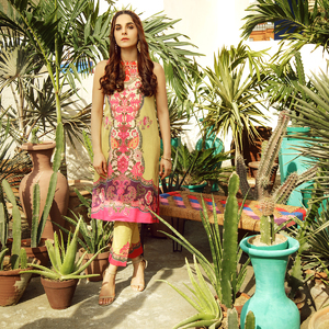 Alkaram studio Spring Summer Collection 2020 Vol I Beige Lawn 2 Piece Suit For Women -A132225658