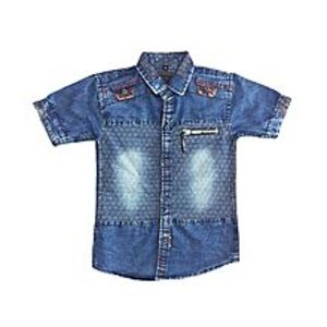Bhai Bhai Garments Blue Jean Boys Shirt Kids Premium Quality(Eid New Arrival)