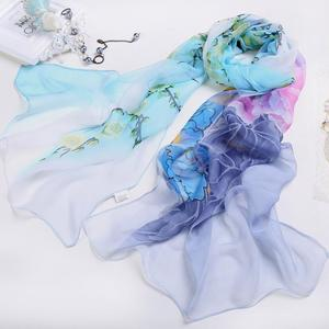 FashionieStore Woman's scarf Women Ladies Chiffon Floral Scarf Soft Wrap Long Shawl