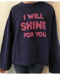 Mid. Blue Long Sleeves Sweatshirt For Girls