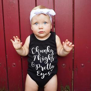 Stonershop Newborn Infant Baby Girl Boy Sleeveless Letter Romper Jumpsuit Outfits Clothes