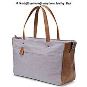 As seen on tv Uk Import Hp 14-Inch (35-centimetre) Laptop Canvas Tote Bag - Grey
