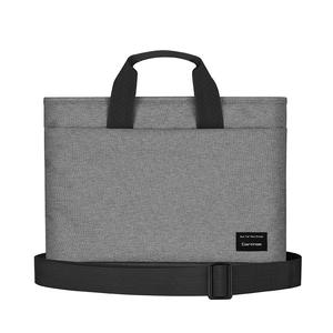 Cartinoe Realshine Series 15 inch Fashion Dual-color Polyester Laptop Bag with Handle & Shoulder Strap, for Macbook, Samsung, Lenovo, Sony, DELL Alienware, CHUWI, ASUS, HP (Grey)