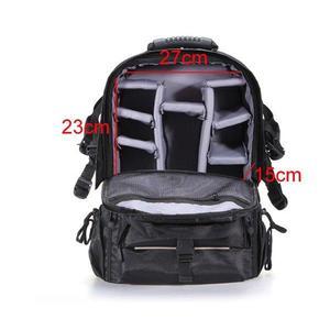Hot Shockproof Waterproof DSLR Camera Backpack Bag Case for Canon Nikon + Rain cover (Black)