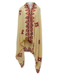 Multicolour Cotton Polyester Shawl For Women
