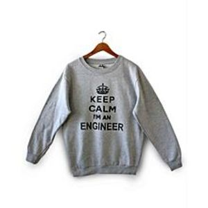 Brand X T-Shirts Grey Fleece Sweatshirt For Women