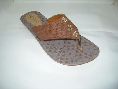 The Right Soft Rexiene Premium Quality Pu Casual Slipper For Women - Brown