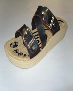 Black Synthetic Rexine Casual Heel Slipper For Women