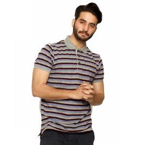 Maroon Cotton Collar T-Shirt For Men