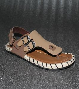 Brown Artificial Leather Peshawari Sandals For Men