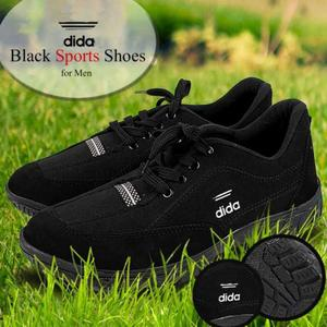 Black Running Sports Shoes For Mens