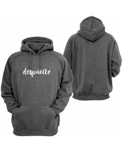 Charcoal Fleece Printed Pull Over Hoodie for Men