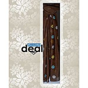 Discounted deals Brown Cotton Embroidered Stole For Women