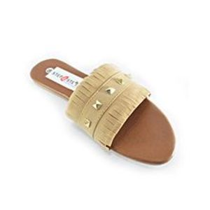Step Buy Step Beige Fancy Shredded Style Slipper For Women