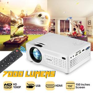 2000 Lumens Multimedia Projector 1080P DLP WiFi LED Home Theatre Cinema HDMI Bluetooth