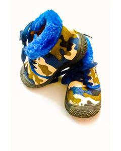 Camo Lace-up Winter Warmth Shoes for Kids