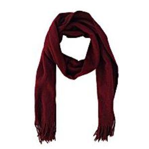 Hi CharlieWool Muffler For Men and Women-Dark Red