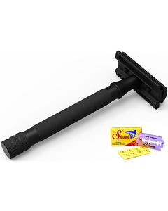 Stainless Steel Safety Razor - Black
