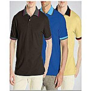 TJ FASHIONPack Of 3 Polo T-Shirts For Men -Yellow, Blue & Blac