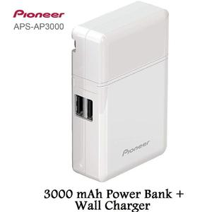 Genuine Pioneer APS-AP3000 mAh Polymer Mini Mobile Power USB  Universal Mobile Phone Spare Battery Charging  For All Smart Phones