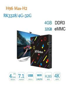 ANDRIOD TV BOX H96MAX H2 4GB+32GB QUAD CONRE 4K ULTA HD TV 7.1.2V