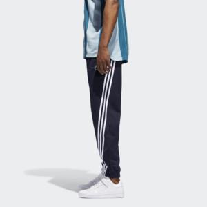 Fifth Avenue Mens Dri-Fit Wrap Tri Stripe Track Pants - Navy Blue and White