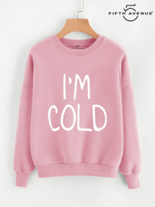 Fifth Avenue Im Cold Print Sweatshirt - Pink