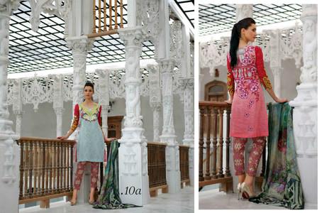 Tabassum Mughal Luxury Lawn Design 10A
