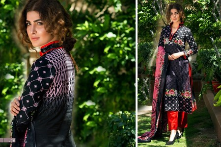 Monsoon Lawn by Al Zohaib Vol 3 Design 5C (Orange)