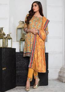 Imperial Grace 3 Piece Resham Twill Linen Collection - 38-YELLOW