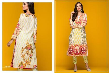 Al Zohaib Embroidered Tunic and Pant Design TN-07B