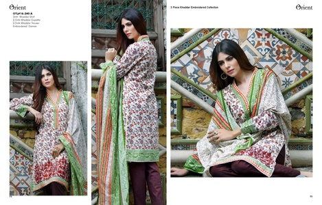 Orient Winter Khaddar Collection - Traditional Paisley - OTL-16-240-A