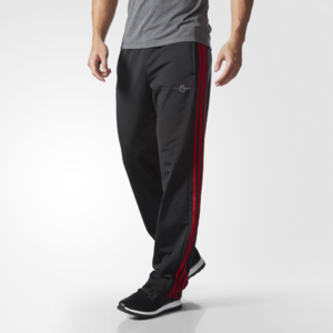 Fifth Avenue Mens Dri-Fit Tri Stripe Track Pants - Black and Red