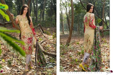 Monsoon Lawn 2016 Vol 2 by Al Zohaib Design 6C (Green)