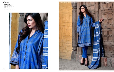 Orient Winter Khaddar Collection - Paisley Block - OTL-16-239-A