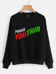 Fifth Avenue Proud Youthia Print Sweatshirt - Black