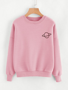 Fifth Avenue Planet Print Sweatshirt - Pink