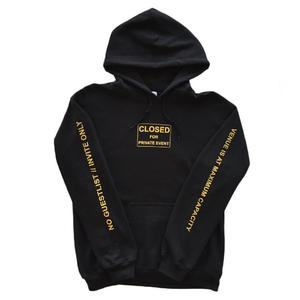 Fifth Avenue Closed For Private Events Print Hoodie - Black