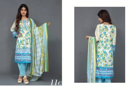 Monsoon Lawn by Al Zohaib 2017 Design 11C