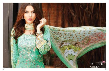Tena Durrani Luxury Lawn Jade Green (7B)