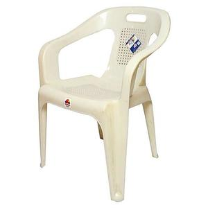Stylish Plastic Outdoor Chair - WhiteHurry up! Sales Ends in