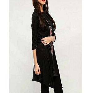 Bindas Collection - Viscose Tunic For Women - BlackHurry up! Sales Ends in
