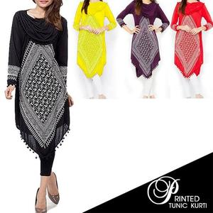 Printed Tunic Kurti - MulticolorHurry up! Sales Ends in