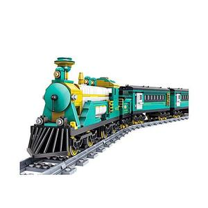 Stinnos- Battery Powered Electric Train Building Block Toy - 851pcs - BlueHurry up! Sales Ends in