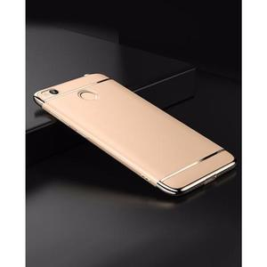 The SpeedGrade - 3Piece Mi Redmi 4X Electroplated Anti Shock Ultra Thin Bumper Case - Matte GoldenHurry up! Sales Ends in