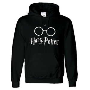 Onshoponline - Cotton Printed Harry Potter Hoodie For Men - BlackHurry up! Sales Ends in
