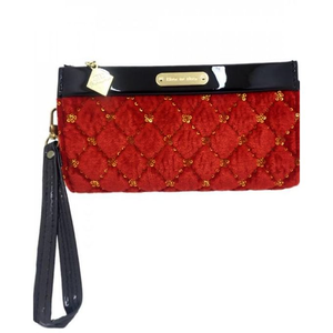 Bindas Collection - Velvet Clutch For Women - OrangeHurry up! Sales Ends in