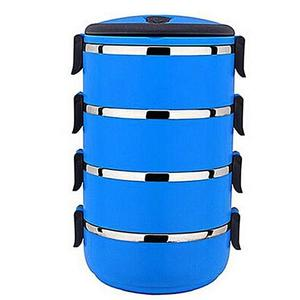 4 Tier Lunch Box - Lb 4 - BlueHurry up! Sales Ends in