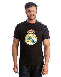 Royal Collection - Printed Cotton Real Madrid Fan T-Shirt For Men - BlackHurry up! Sales Ends in