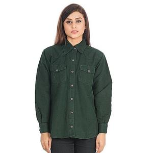 Hunter Cotton Shirt for Women - DTM - VTS 03 - GreenHurry up! Sales Ends in
